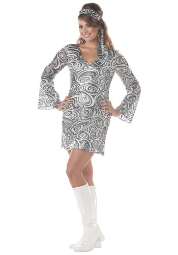 Plus Size Disco Diva Dress - Adult Disco Party Costumes By: California Costume Collection for the 2015 Costume season.