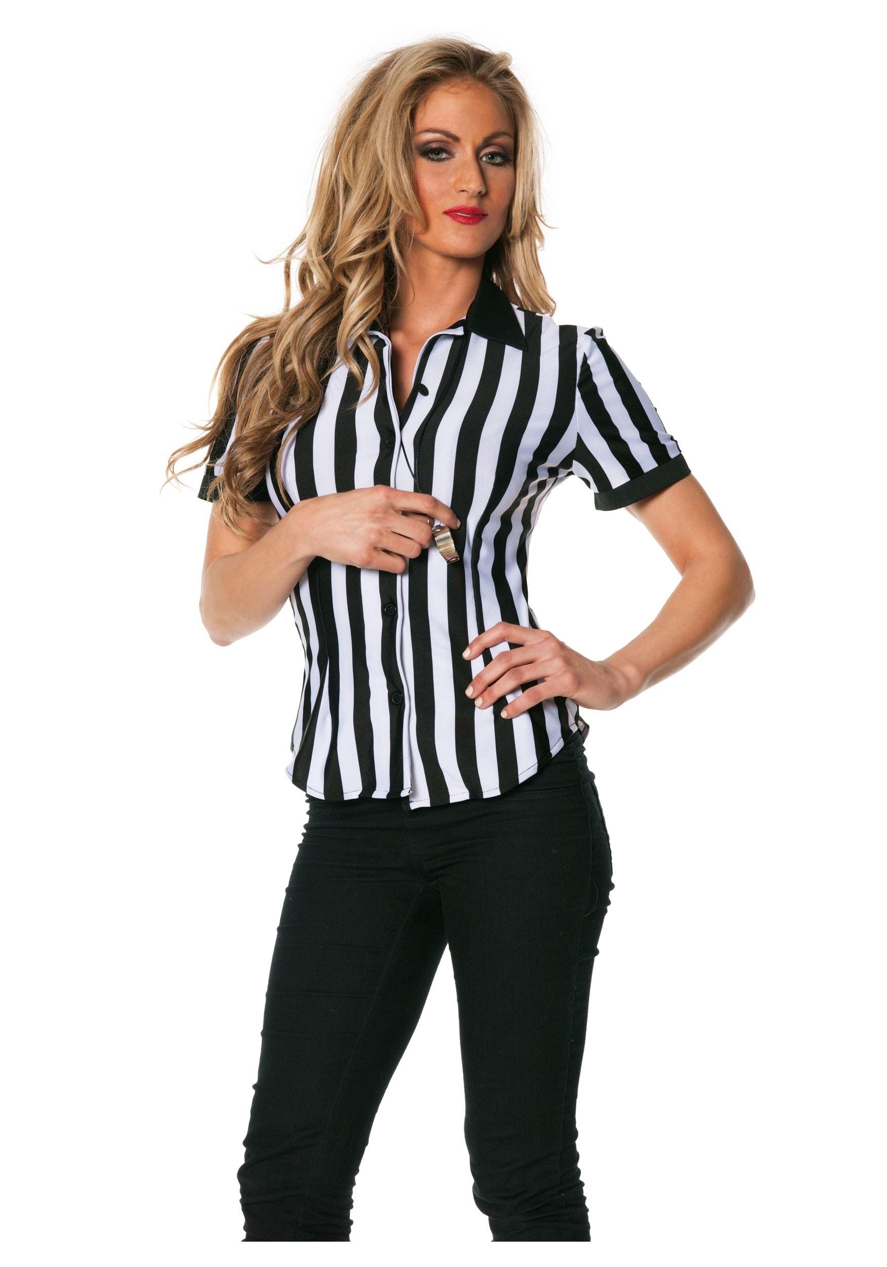Women 39 s plus size referee shirt for Plus size womens shirts
