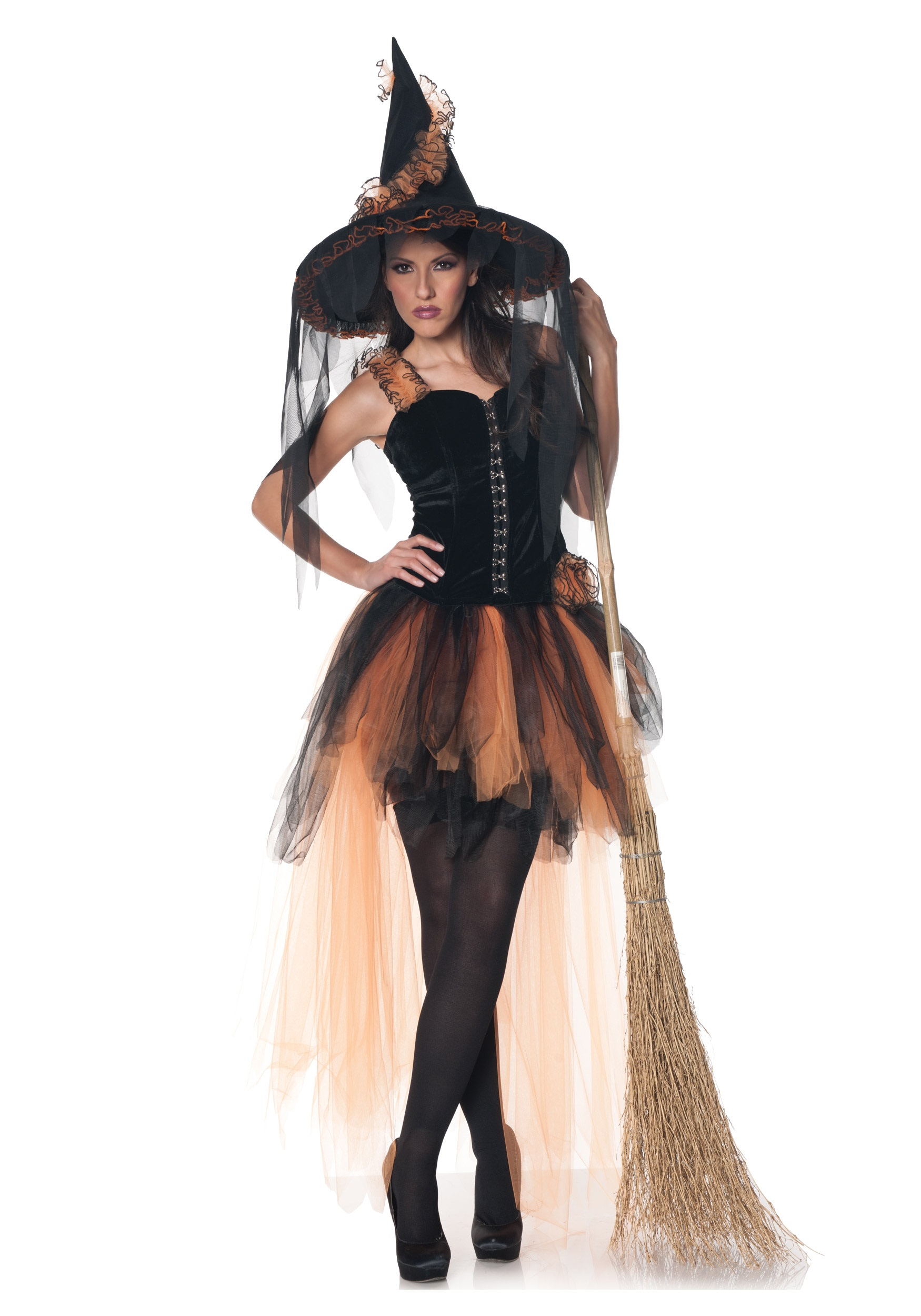 Hollowu0027s Eve Womens Orange and Black Witch Costume  sc 1 st  Halloween Costumes & Hallowu0027s Eve Womenu0027s Orange u0026 Black Witch Costume