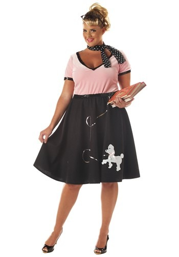 Plus Size 50s Sweetheart Costume - Sock Hop Halloween Costumes