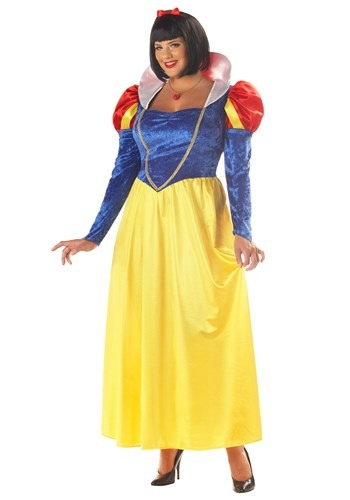 Click Here to buy Plus Size Womens Snow White Costume 1X 2X 3X from HalloweenCostumes, CDN Funds