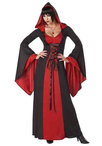 Plus Size Deluxe Hooded Robe Costume