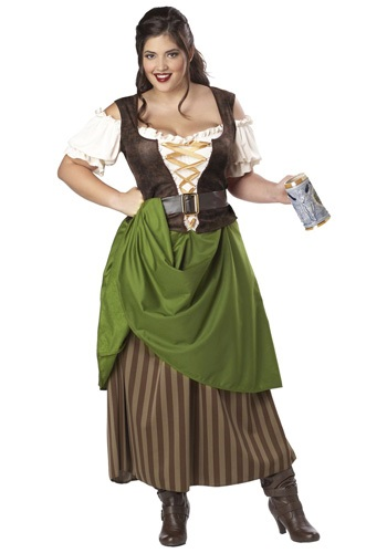 Click Here to buy Plus Size Tavern Maiden Costume from HalloweenCostumes, USA Funds & Shipping
