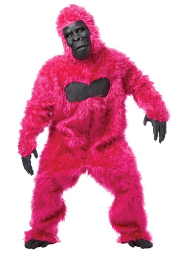 Click Here to buy Pink Gorilla Costume Suit from HalloweenCostumes, CDN Funds