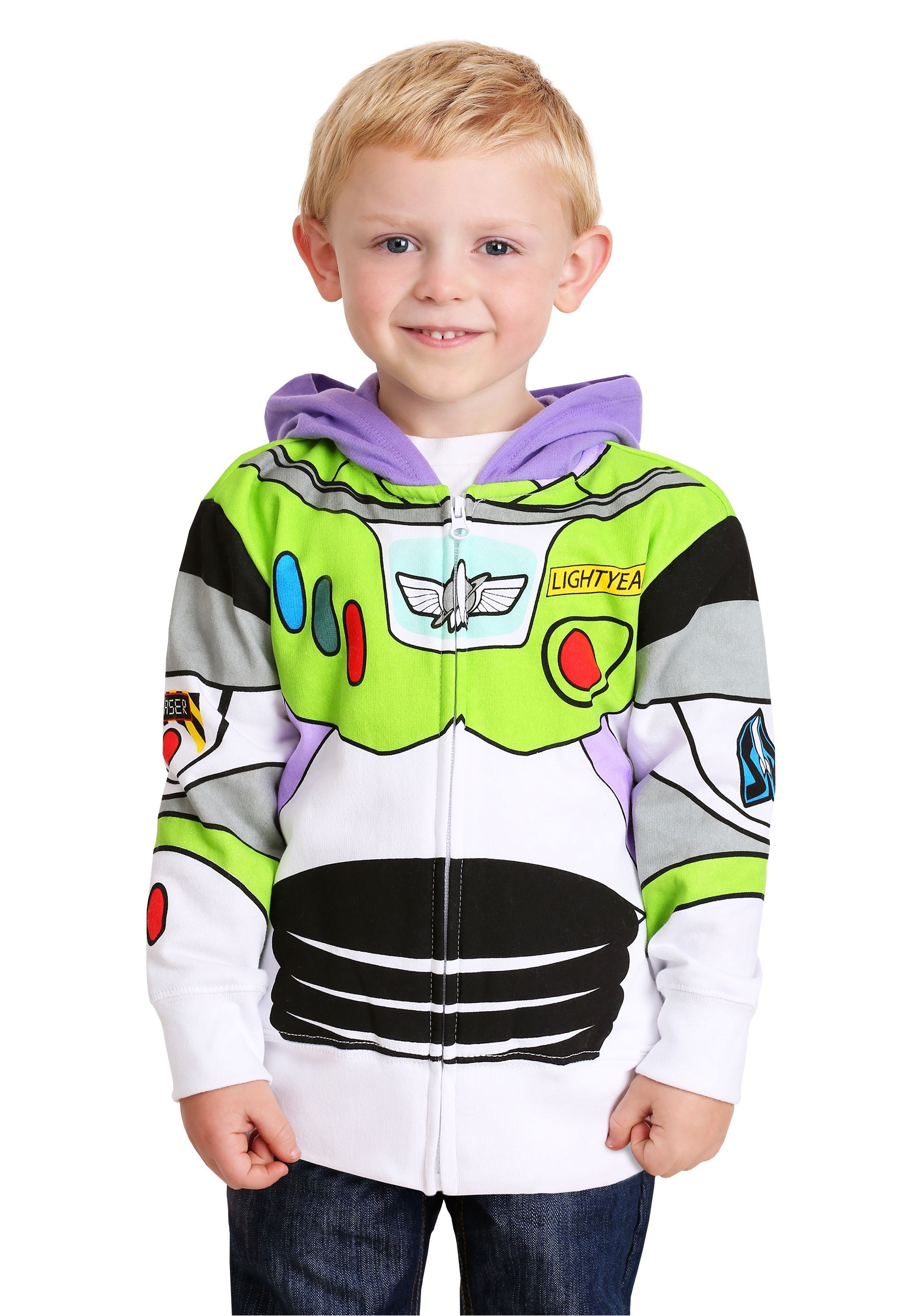 Diy halloween yard decorations - Toddler Toy Story Buzz Lightyear Costume Hoodie