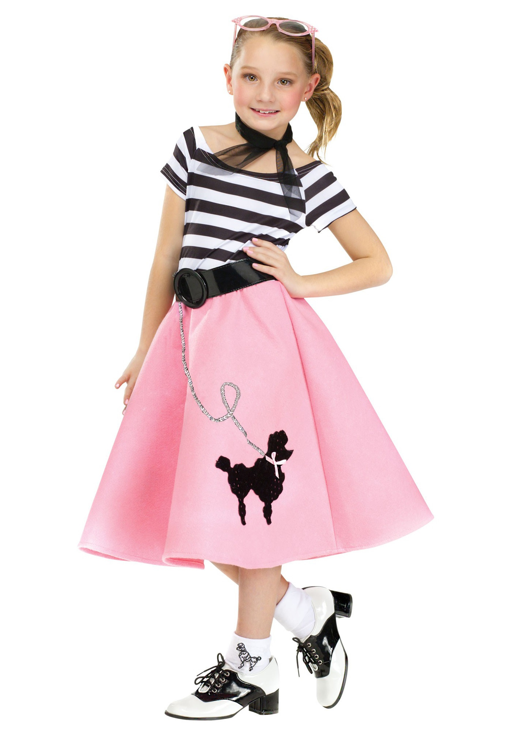 Girls Poodle Skirt Dress  sc 1 st  Halloween Costumes & Girlu0027s Poodle Skirt Dress
