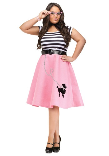 Poodle Skirt Dress Plus Size Costume