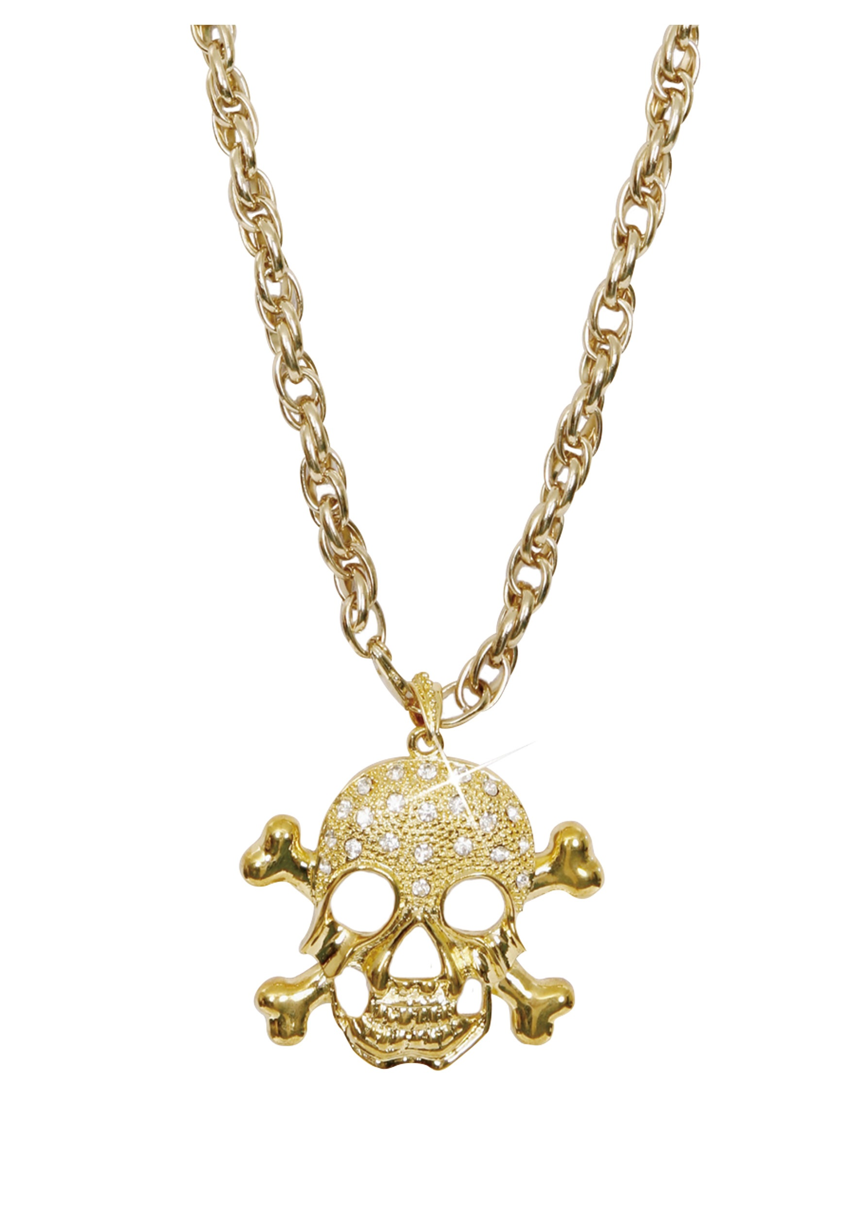 Halloween spider decorations - Gold Pirate Necklace