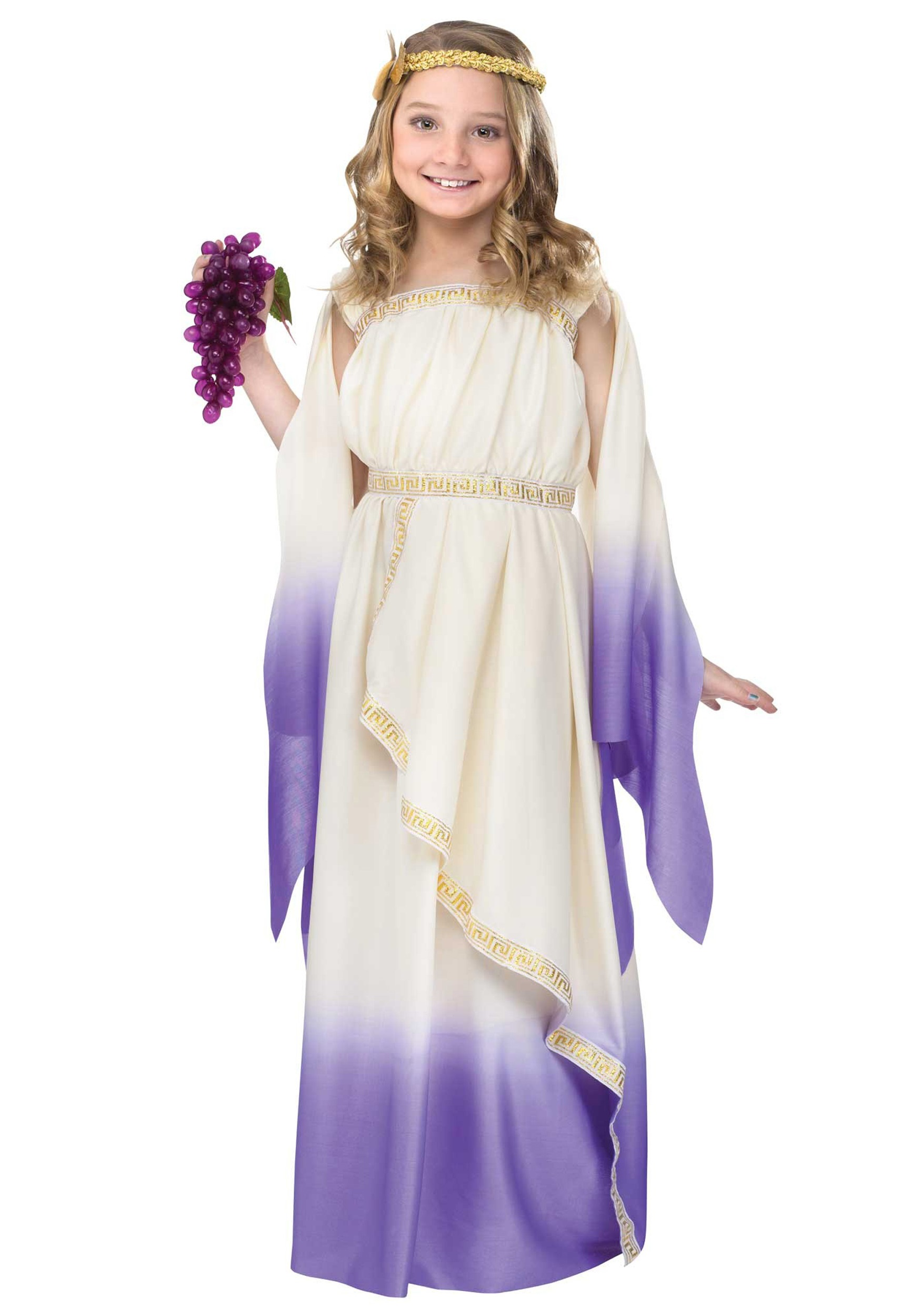 Girls Purple Goddess Costume: http://www.halloweencostumes.com/girls-purple-goddess-costume.html