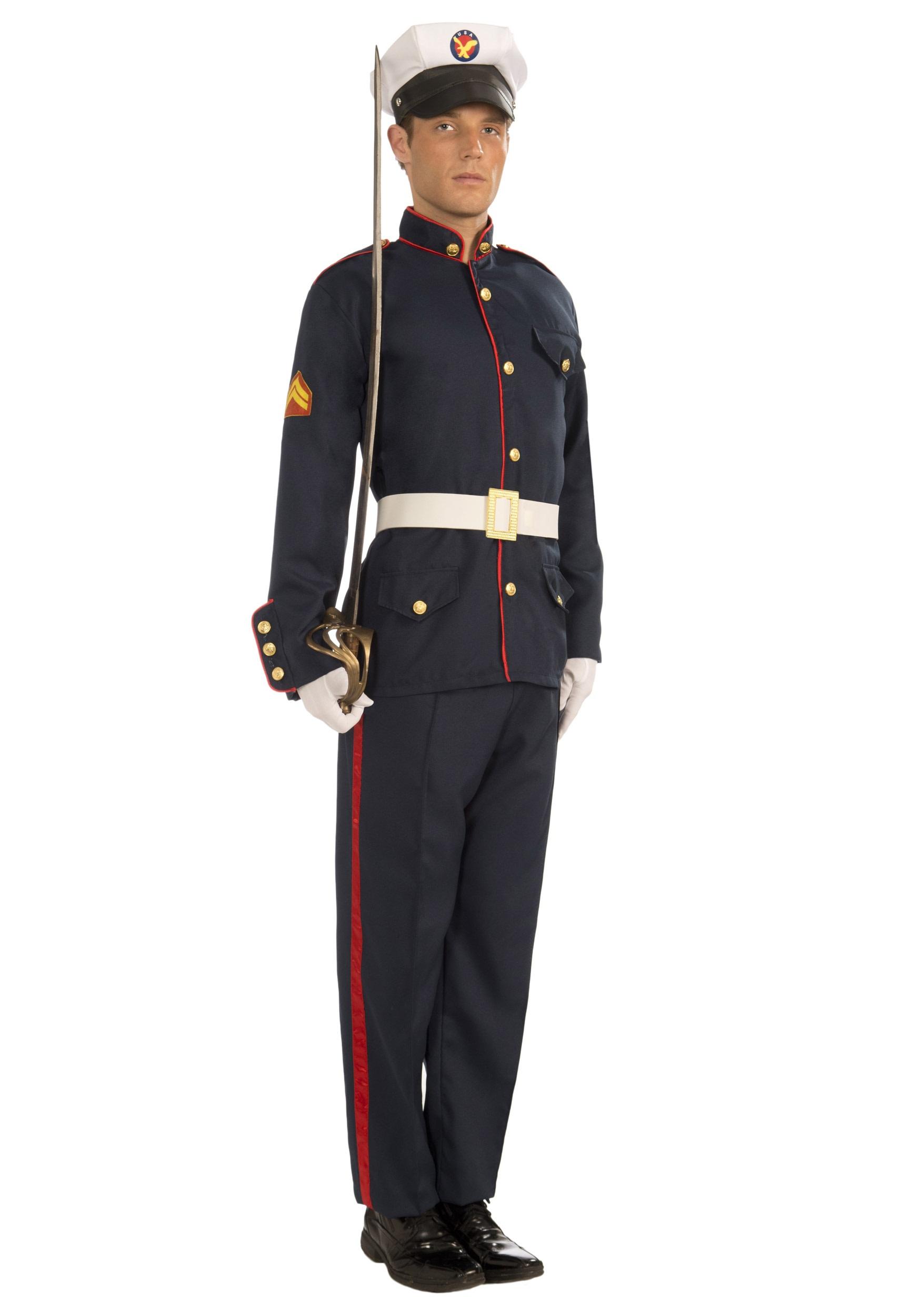 Adult Formal Marine Costume - Suit Halloween Costumes