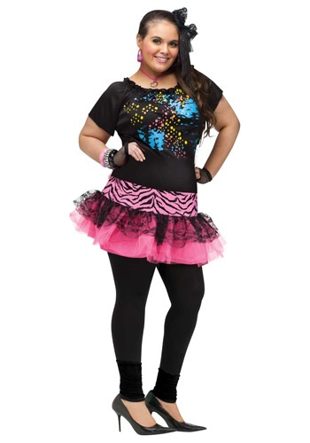 Click Here to buy Plus Size 80s Pop Party Costume 1X 2X from HalloweenCostumes, CDN Funds