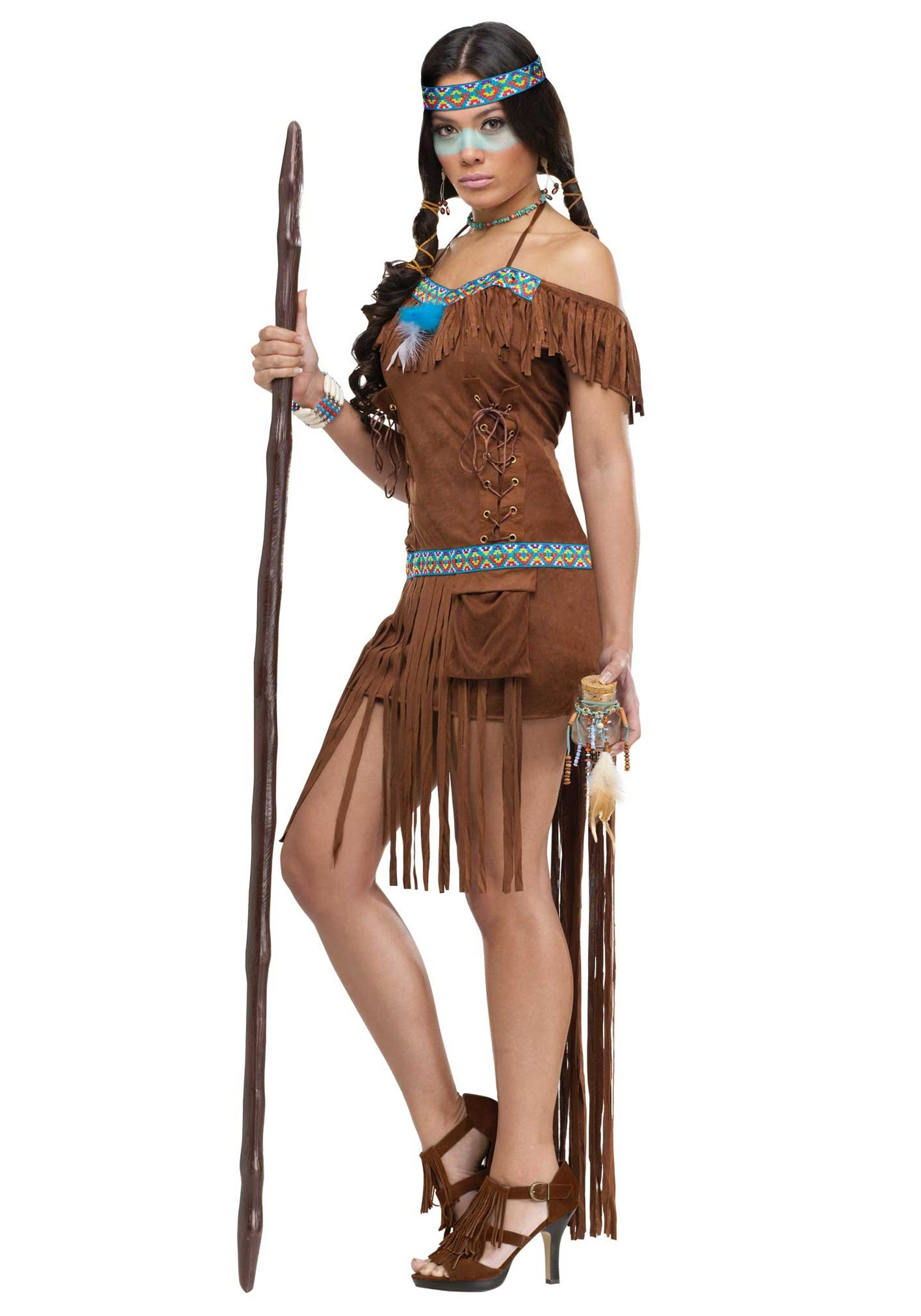 Native American Healer Costume For Women-5644