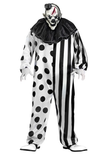 Click Here to buy Mens Killer Clown Costume from HalloweenCostumes, USA Funds & Shipping