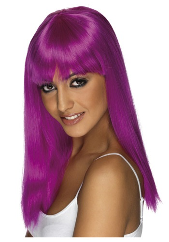 Click Here to buy Glamourama Neon Purple Wig from HalloweenCostumes, CDN Funds