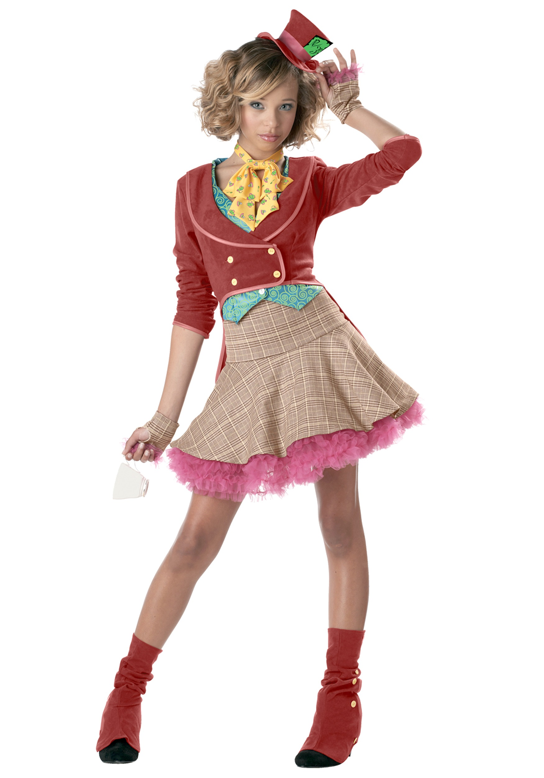 teen girls mad hatter costume - Girls Teen Halloween Costumes