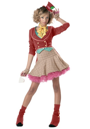 Whimsical Teen Mad Hatter Costume