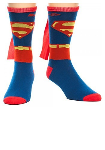 Superman Cape Crew Socks By: Bioworld Merchandising / Independent Sales for the 2015 Costume season.