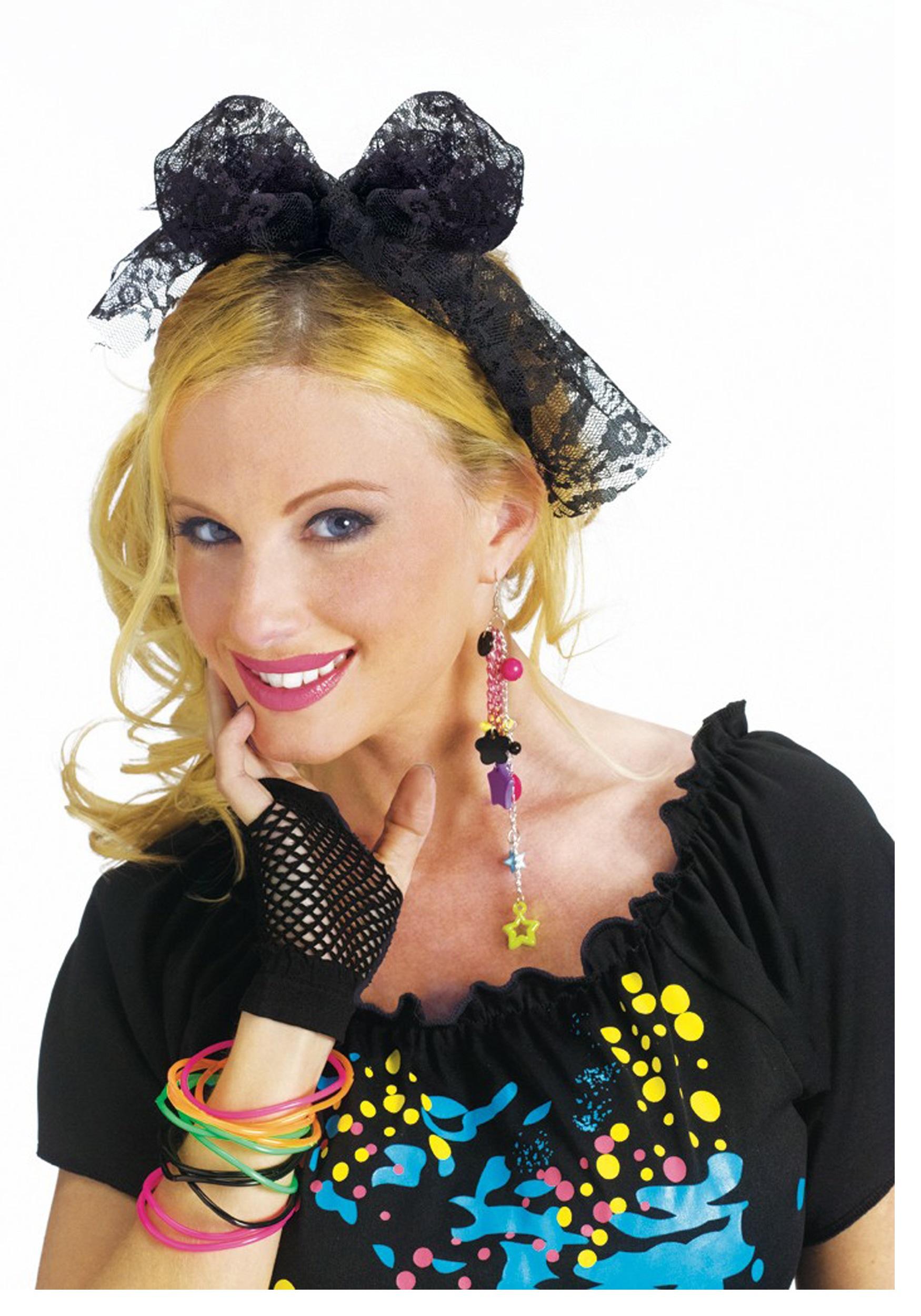 80 s Lace Costume Headband ed9c18a2ef4