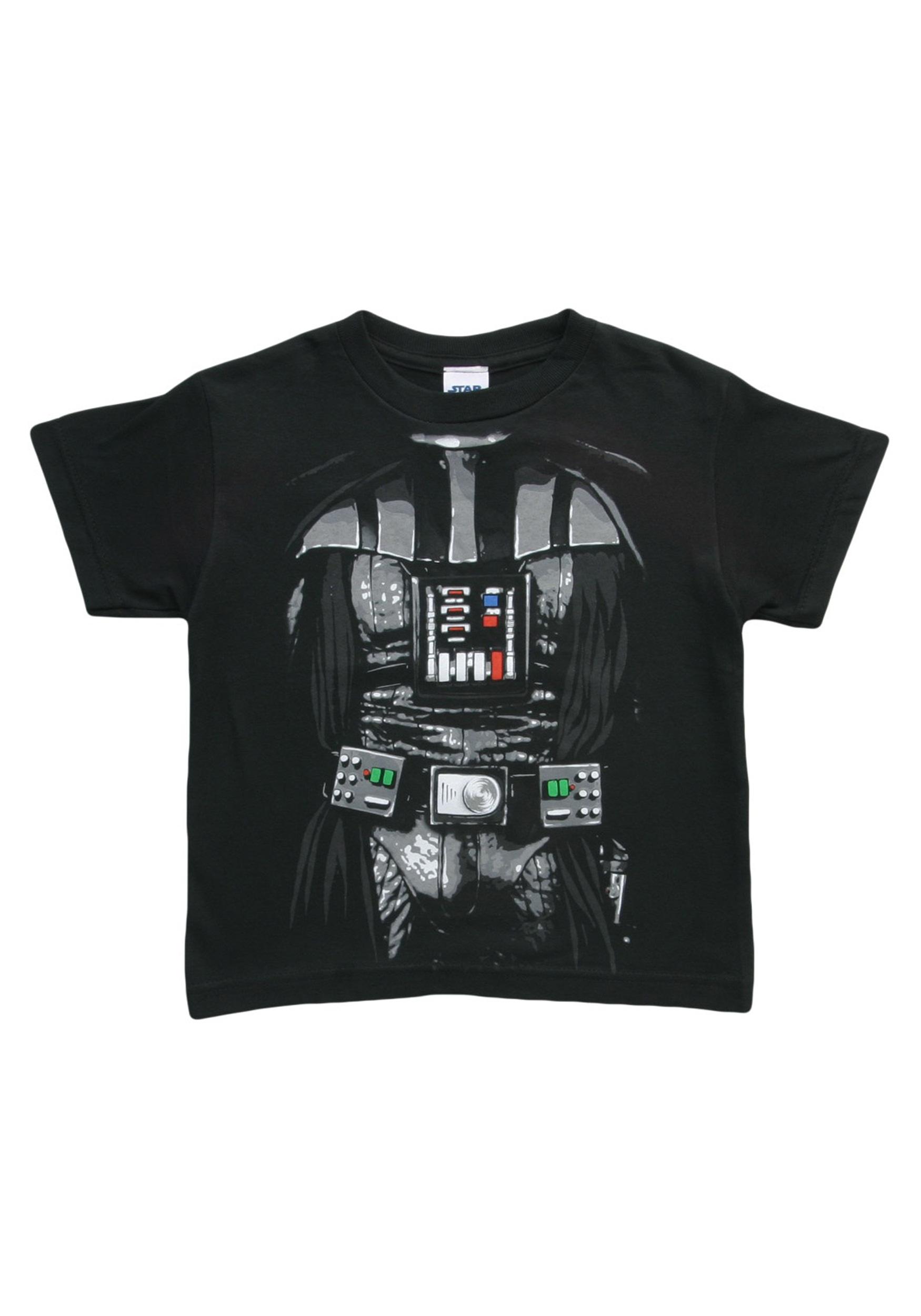 kids dark star wars darth vader costume t shirt. Black Bedroom Furniture Sets. Home Design Ideas