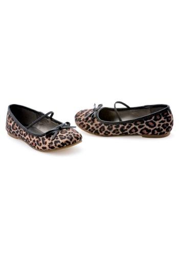 Girls' Leopard Ballet Flats