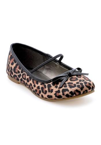 Image of Girls' Leopard Ballet Flats