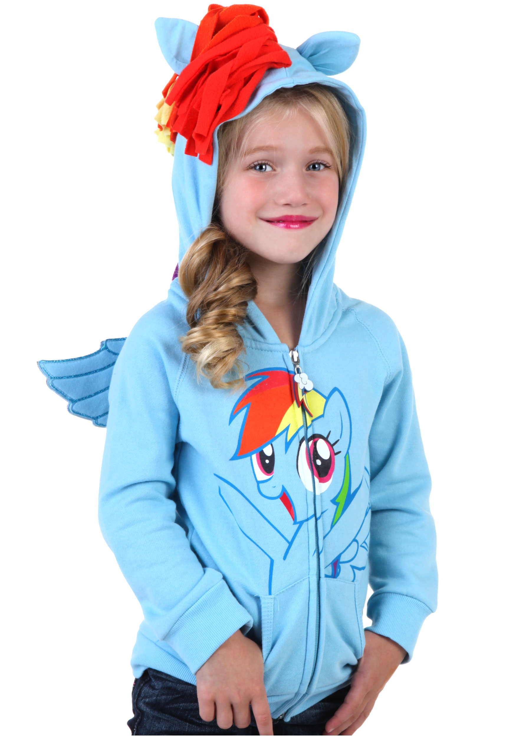 Image of Kids My Little Pony Rainbow Joy Hoodie Costume