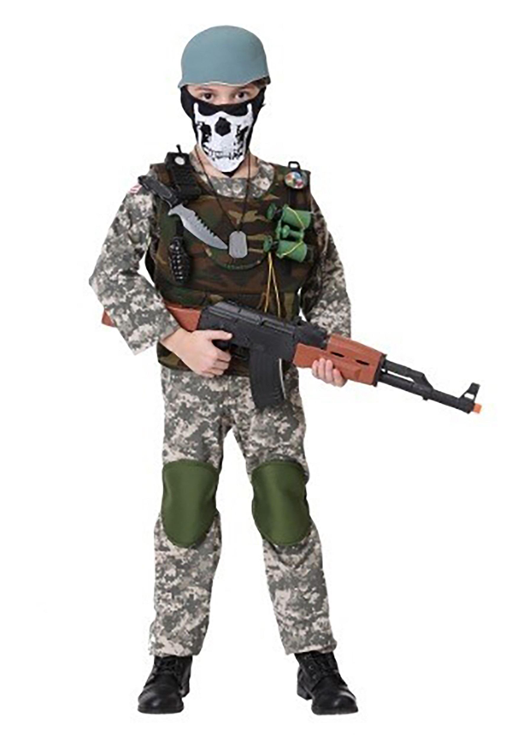 Childs Medium Camo Trooper Value Costume