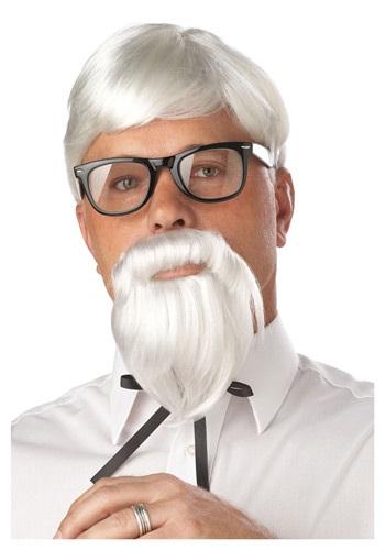 White Colonel Wig and Moustache Accessory
