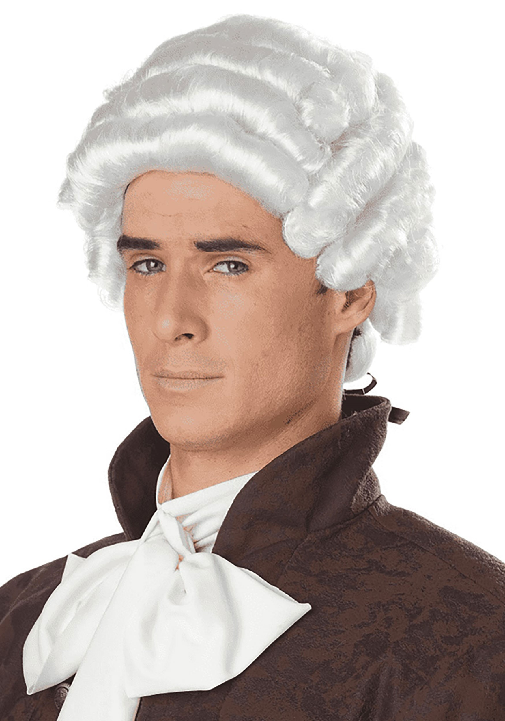 bfe74d68f1a0a1 Men's White Colonial Wig