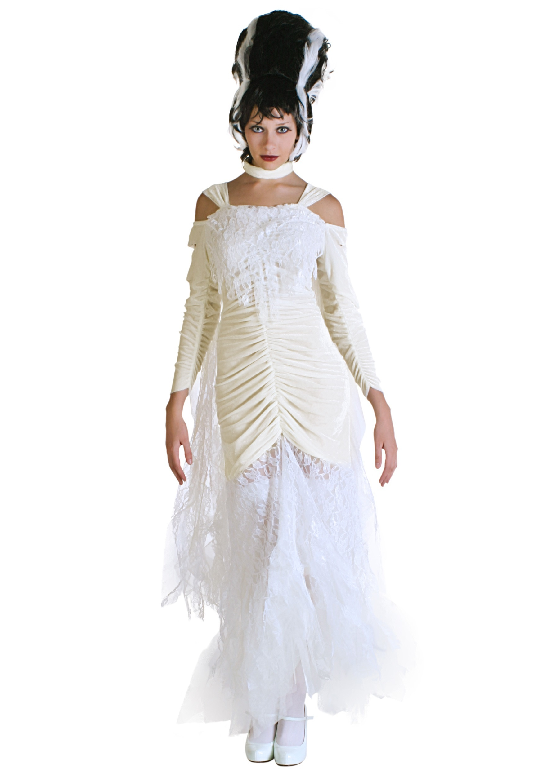 Plus Size Bride of Frankenstein Costume 1X 2X 3X 4X 5X