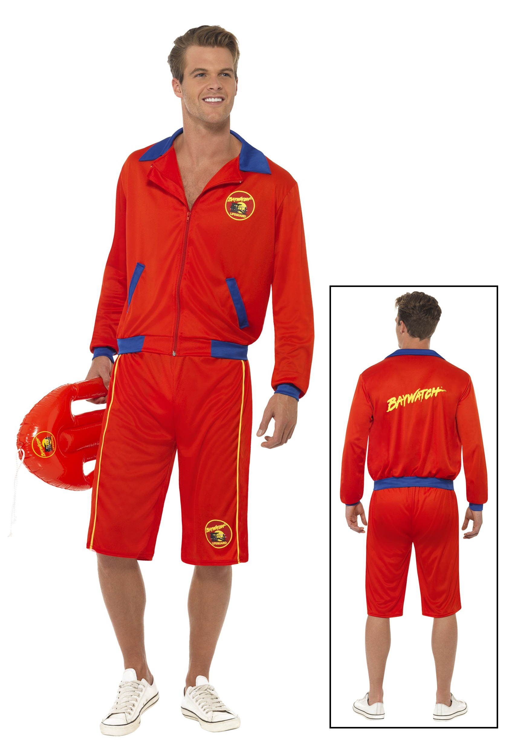Baywatch Beach Mens Lifeguard Costume  sc 1 st  Halloween Costumes : baywatch costume ideas  - Germanpascual.Com