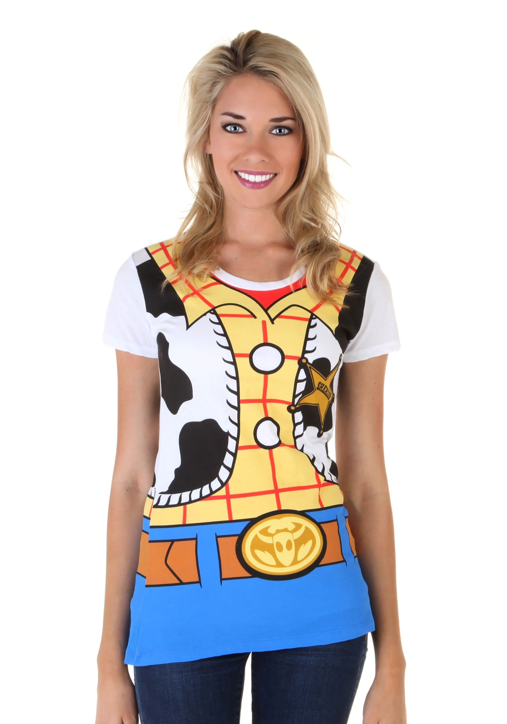 Toy Story I Am Woody Women's Costume Tee MFA4151AAE1