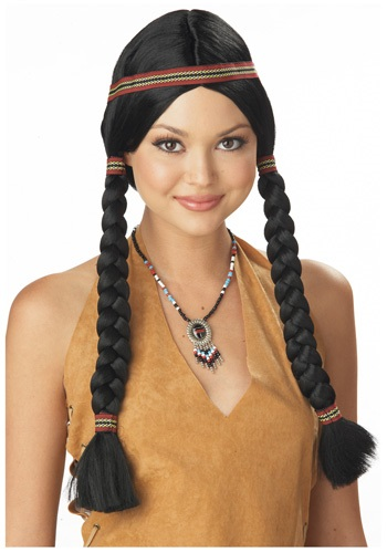 Click Here to buy Womens Native American Maiden Wig from HalloweenCostumes, USA Funds & Shipping
