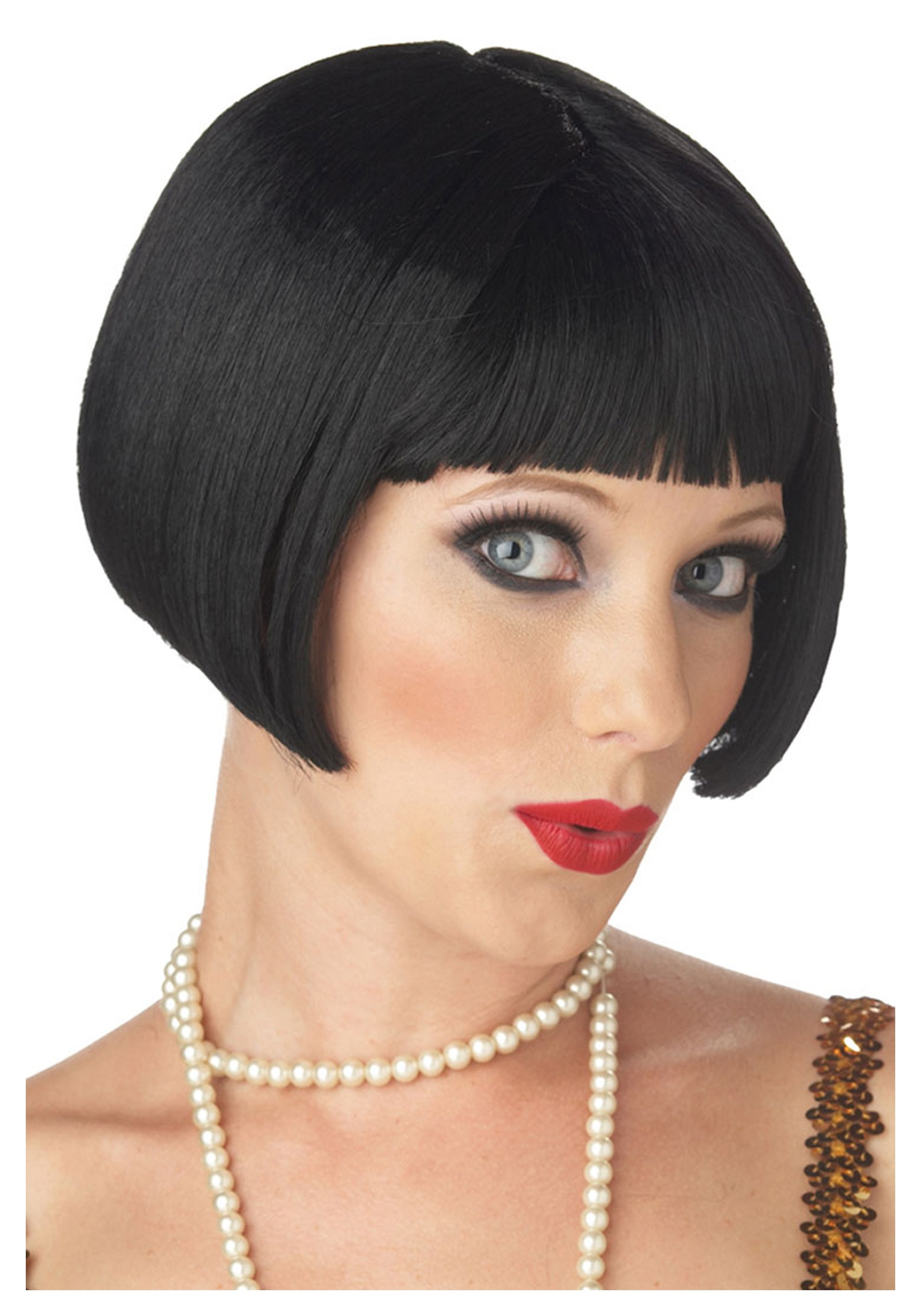 Black Flirty Flapper Wig