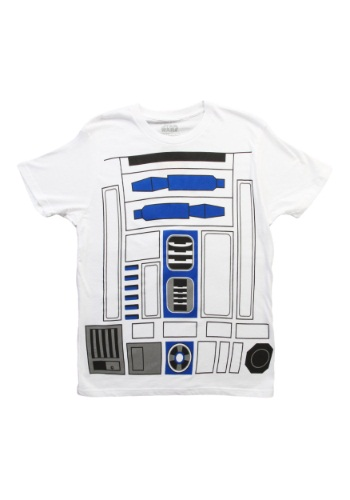 Mens R2D2 Costume T-Shirt By: Mighty Fine for the 2015 Costume season.