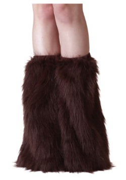 Adult Brown Furry Boot Covers