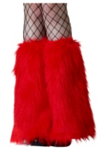 Adult Red Furry Boot Covers