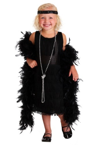 Toddler Black Flapper Dress
