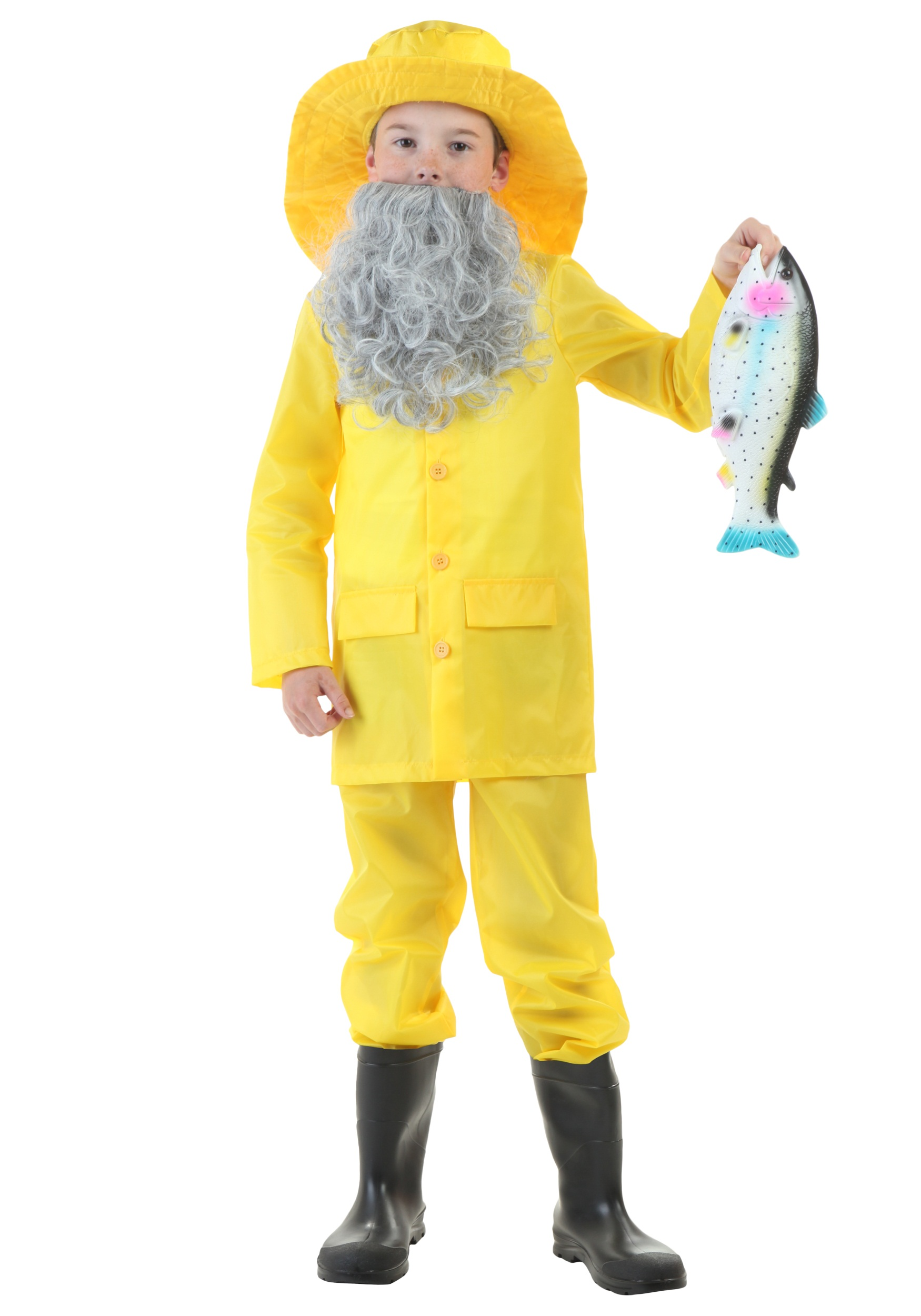Child fisherman costume for Fish costume men