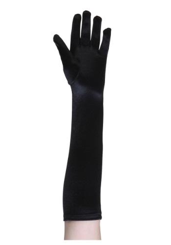 Kid's Black 1920s style Gloves