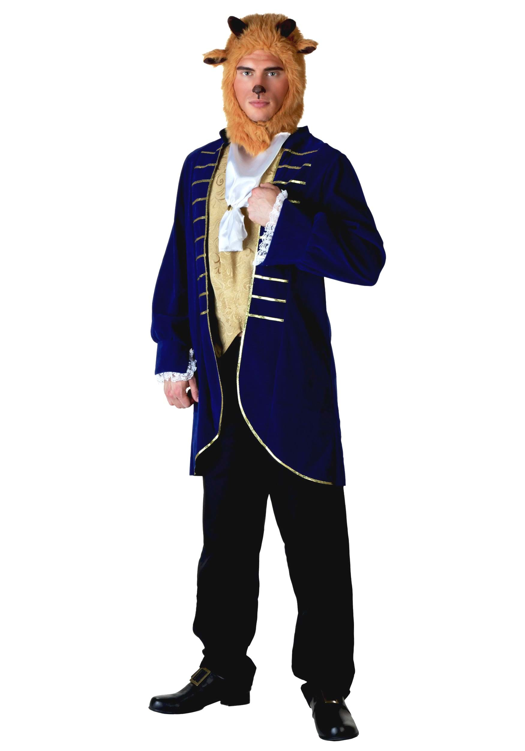 Adult mans Beast costume including Jacket Vest Front Ascot Hood