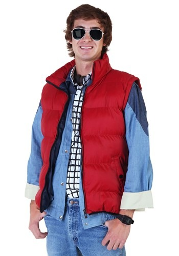 Click Here to buy Back to the Future Marty McFly Vest from HalloweenCostumes, USA Funds & Shipping