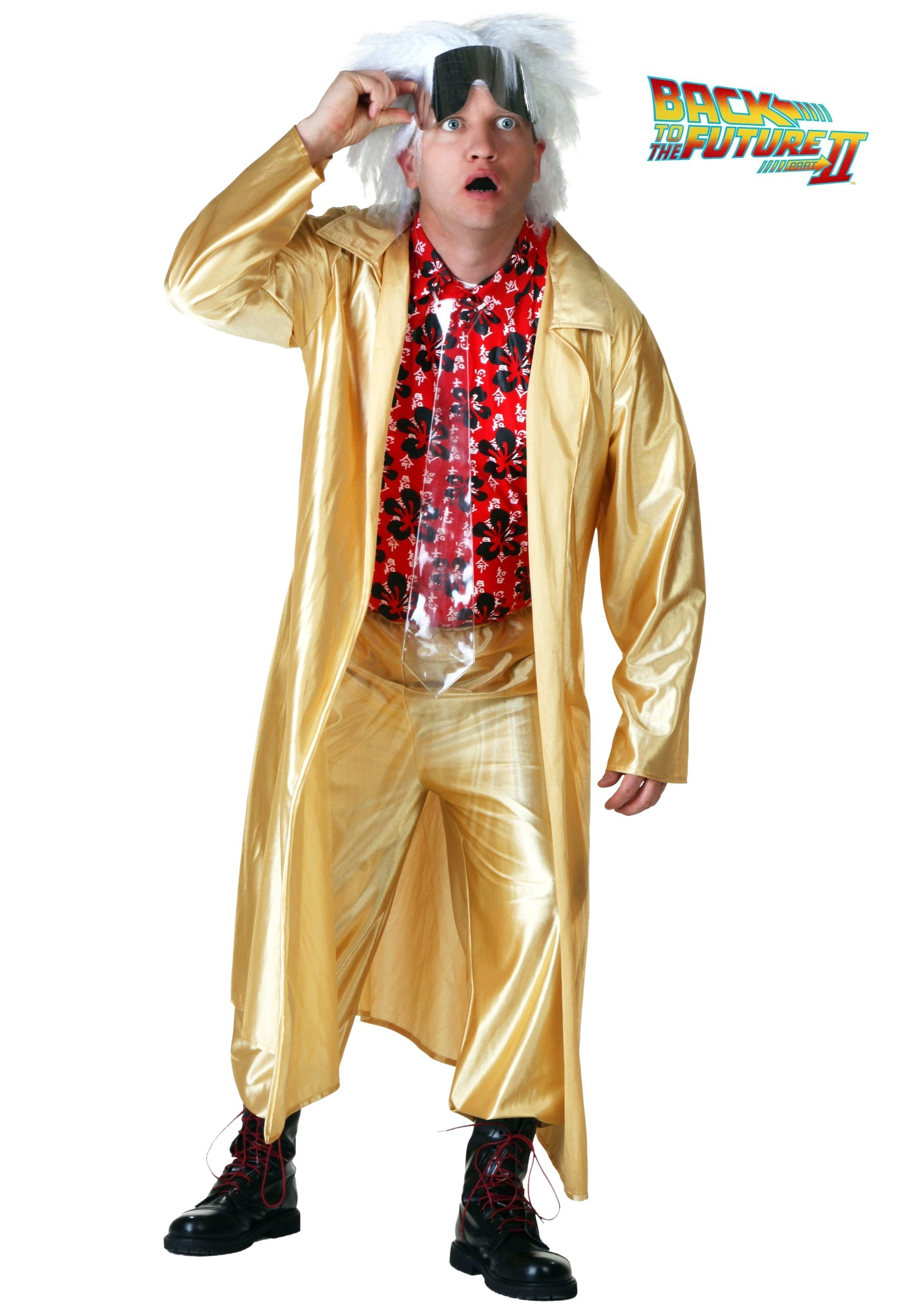 Top Back to the Future 2015 Doc Brown Costume XU72