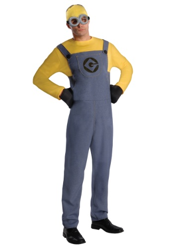 [Adult Dave Minion Costume] (Adult Minions Costumes)