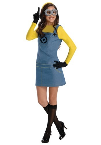 Click Here to buy Female Minion Womens Costume from HalloweenCostumes, CDN Funds