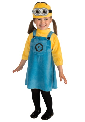 Click Here to buy Toddler Girls Minion Costume from HalloweenCostumes, CDN Funds