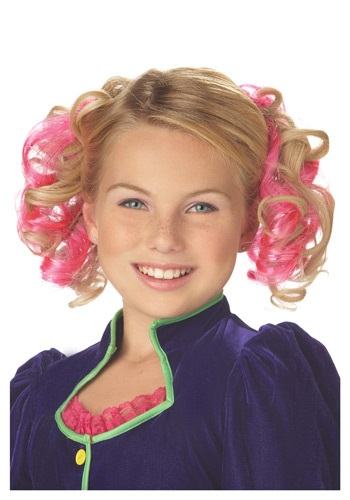 Pink Curly Hair Clips By: California Costume Collection for the 2015 Costume season.