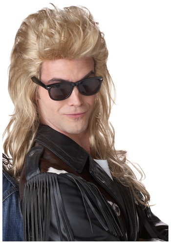 Click Here to buy 80s Blonde Rock Mullet Wig from HalloweenCostumes, USA Funds & Shipping