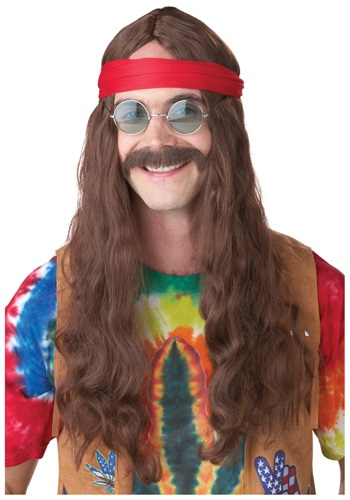 Hippie Man Wig and Mustache By: California Costume Collection for the 2015 Costume season.