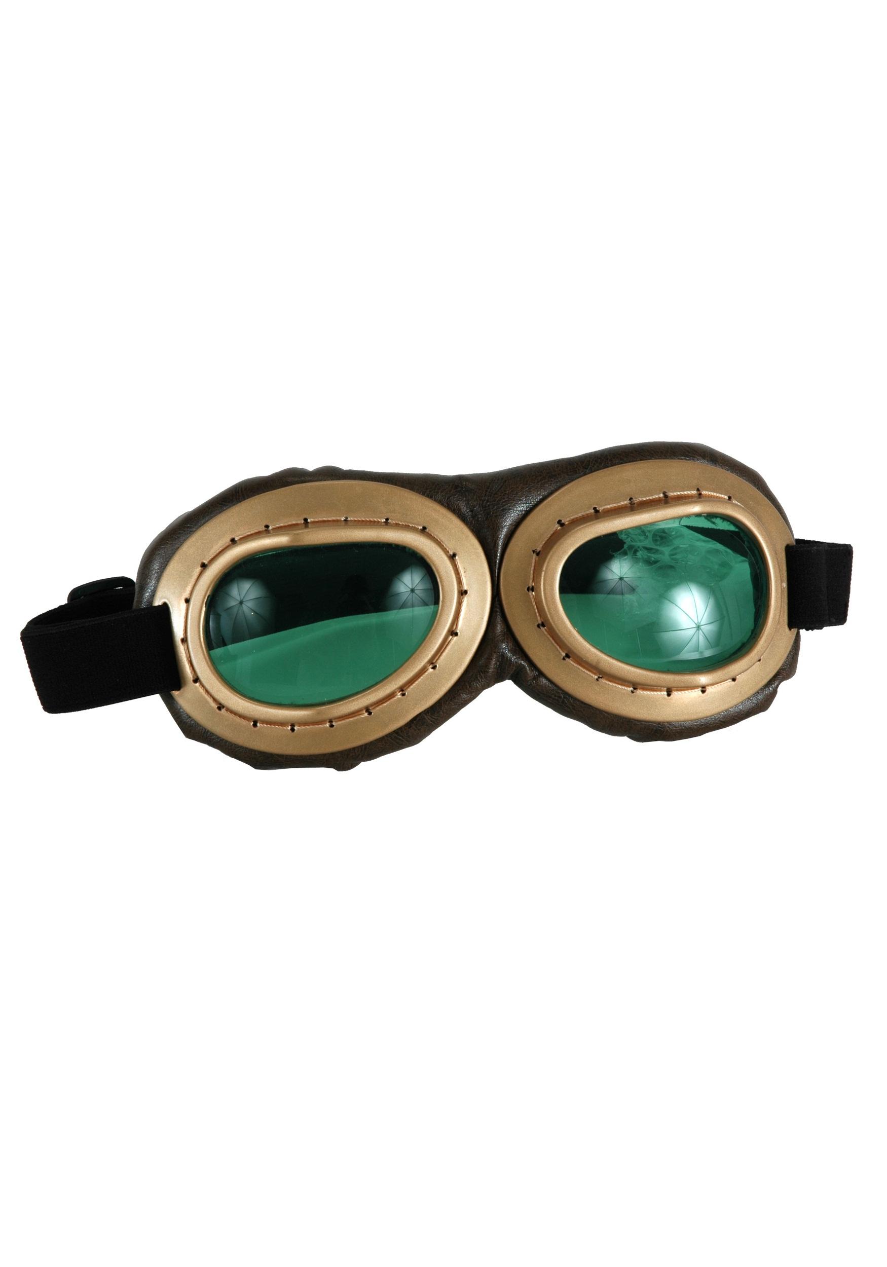 Gold Aviator Goggles EL300831